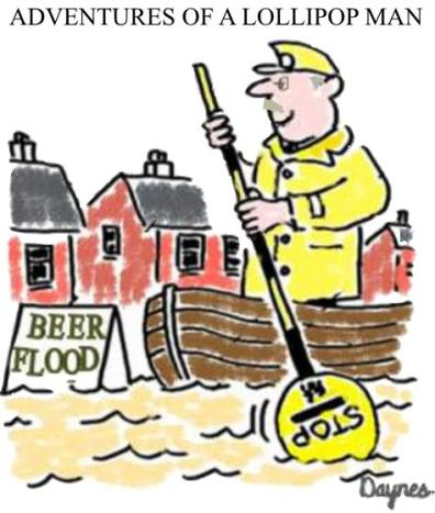 A beer flood in London