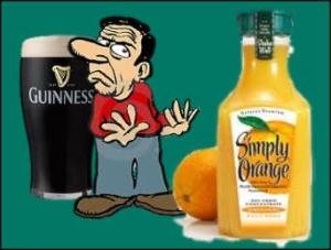Guinness draft has fewer calories than orange juice.