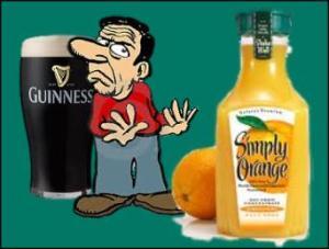 Guinness draft has fewer calories than orange juice.