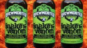 Brewmeister´s Snake Venom is the strongest beer in the world with 67.5% alcohol content.